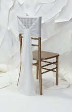 Load image into Gallery viewer, Ivory Oversize Chiffon Chair Ties