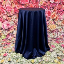 Load image into Gallery viewer, Storm Navy Mystique Matte Satin Tableclothes