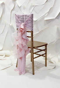 Large Blush Satin & Organza Ruffles