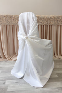 White Crepe Back Satin Wrap