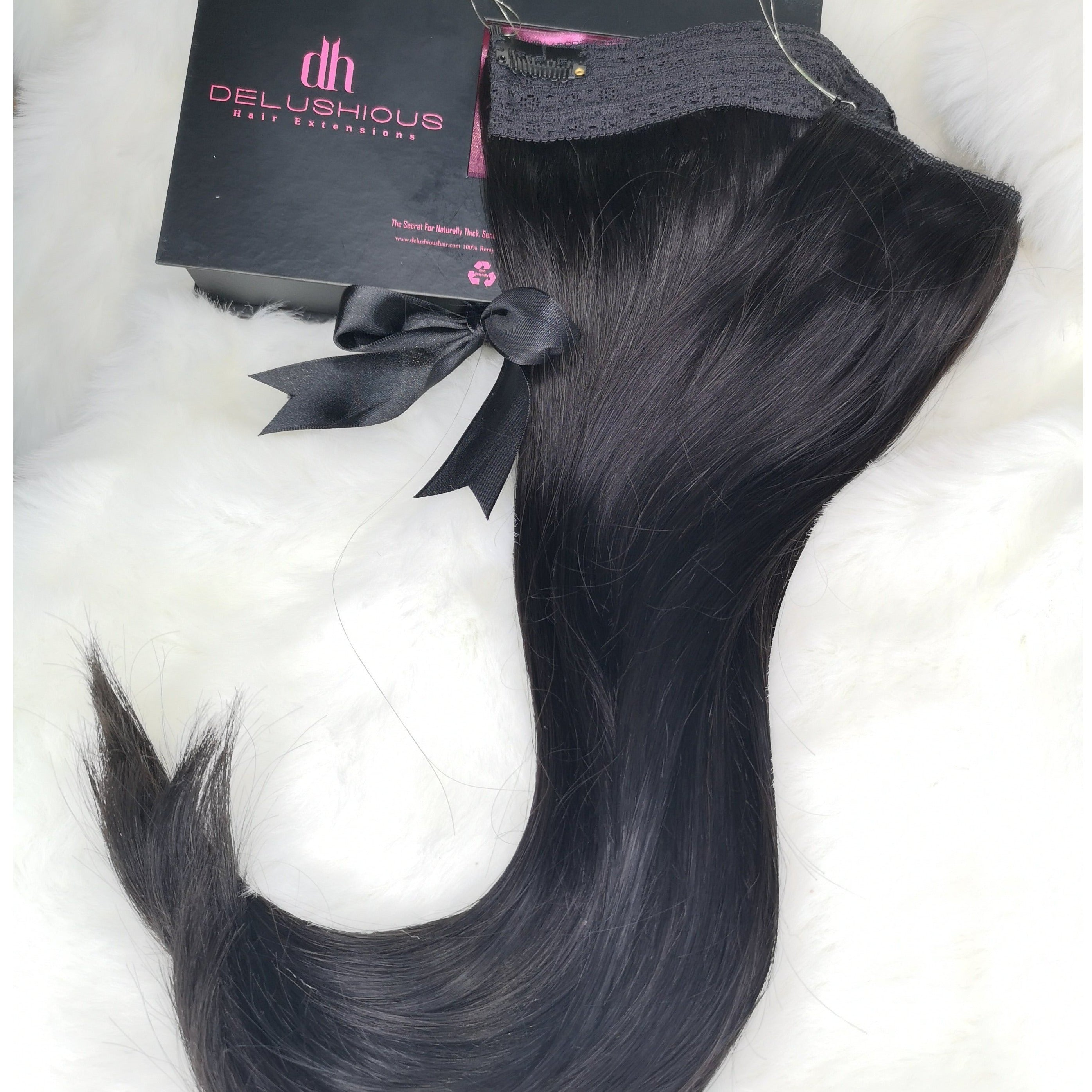 beautiful hair made easy with www.delushioushair.com clip-in extensions