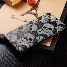 Load image into Gallery viewer, Floral Skull iPhone Case