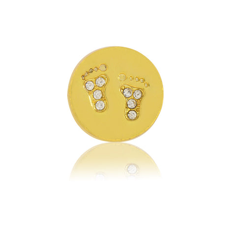 baby feet slide charm gold