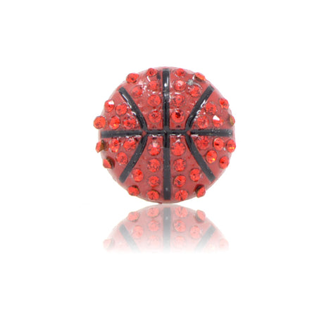 Bling Basketball Slide Charm, Brown