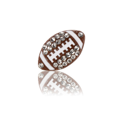 bling football slide charm
