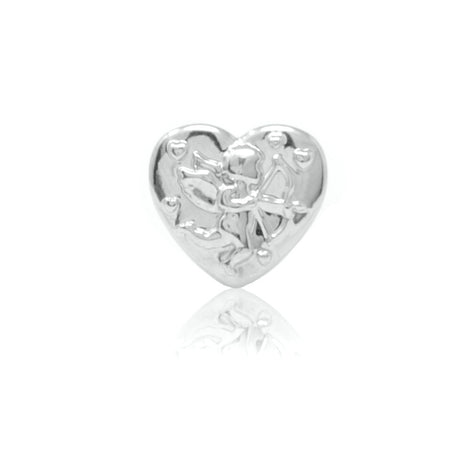Cupid Heart Slide Charm