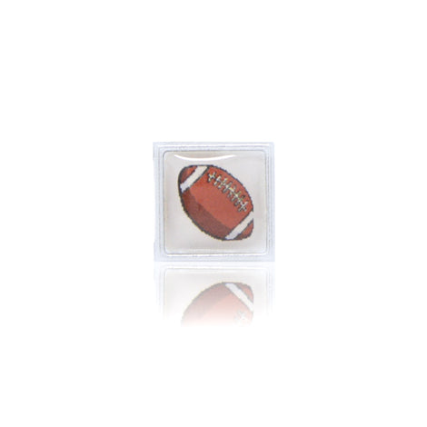 Football Square Slide Charm