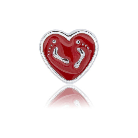 heart feet slide charm
