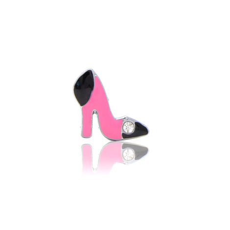 Pink Black Pumps Slide Charm