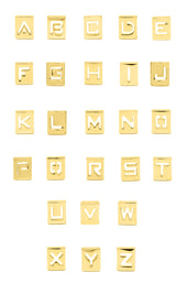 Hollow Square Letters A-Z, Gold