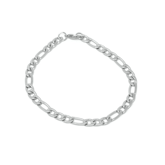 Figaro Link Bracelet Stainless Steel, 6mm