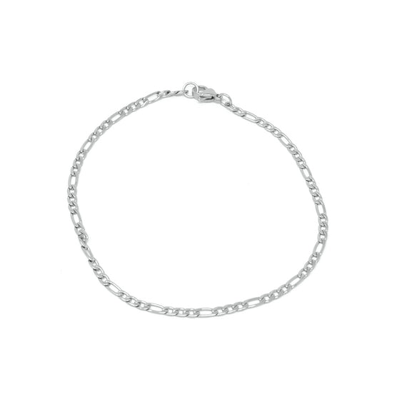 Figaro Link Bracelet Stainless Steel, 3mm
