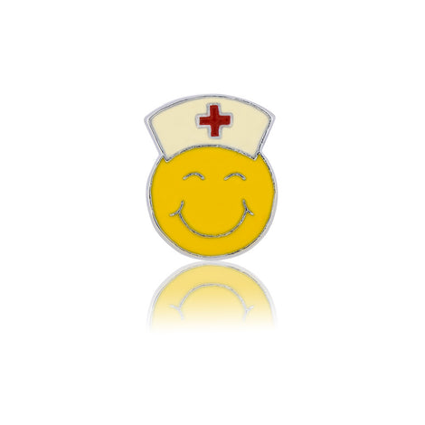 happy nurse smiley slide charm