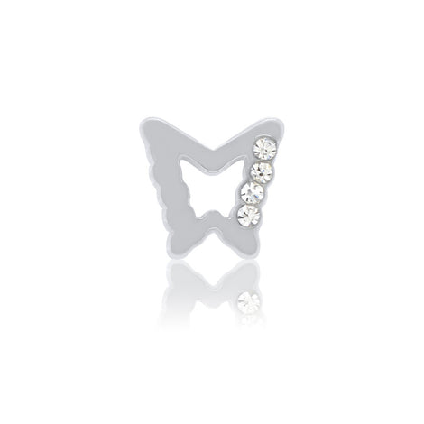 silver butterfly slide charm