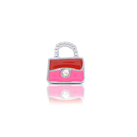 Red Pink Purse Slide Charm