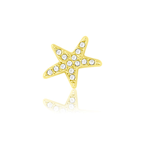 gold starfish slide charm
