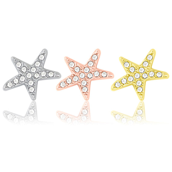 starfish slide charms