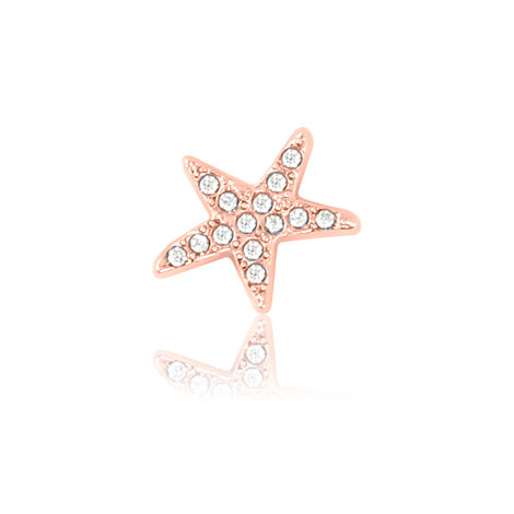 rose gold starfish slide charm