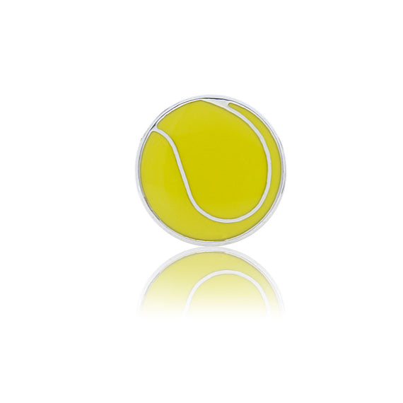 Tennis Fan Slide Charm, Mixed Enamel