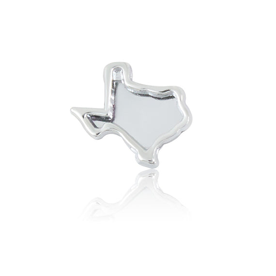silver texas 8mm slide charm