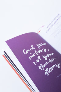 count your rainbow quote journal