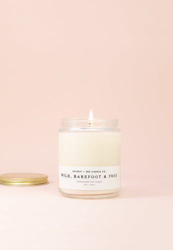 wild barefoot & free soy candle