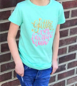 Jane Marie Girls Glitter Tee