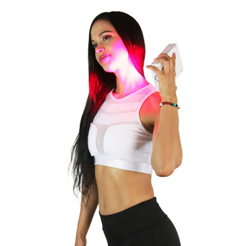 Image of 660nm Deep Red & 850nm Near-Infrared LED Light Therapy, Portable Rechargeable Device, For Collagen, Anti-aging, Pain Relief, Energy and Recovery