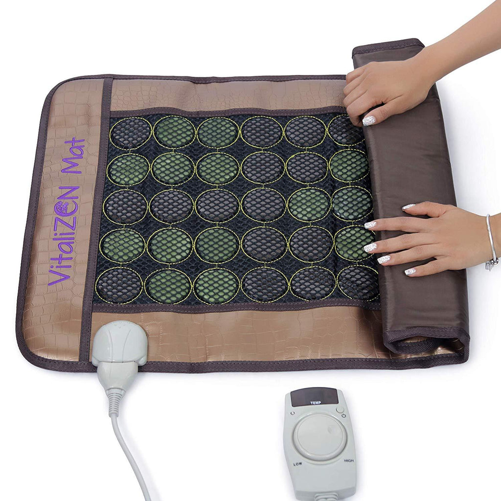 "20"" x 31"" Far Infrared Heating Stone Therapy Flexible Mat 