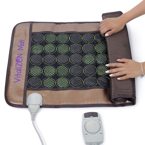 "Image of 20"" x 31"" Far Infrared Heating Stone Therapy Flexible Mat 