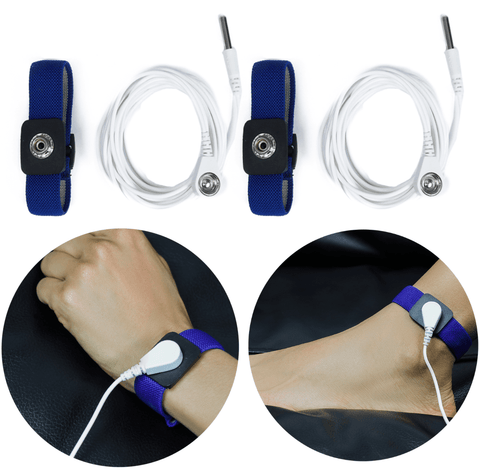 Image of Earthing / Grounding Wrist Bands Kit (Set of 2) For EMF Protection