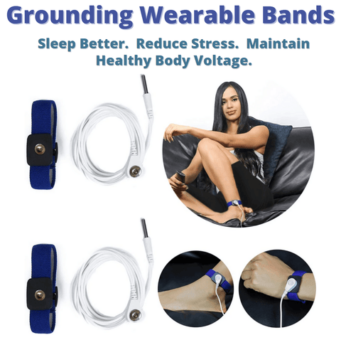 Earthing / Grounding Wrist Bands Kit (Set of 2) For EMF Protection