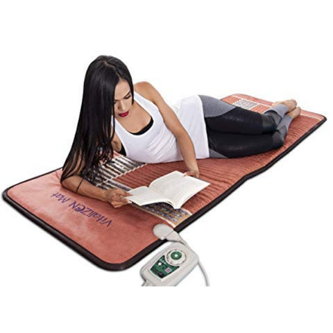 "Image of Infrared Heating Mat - 74"" x 28"" / 185 cm x 70 cm (Firm) - PEMF Therapy Device - Natural Amethyst, Obsidian & Tourmaline Heating Mat - FDA Reg Mfgr"