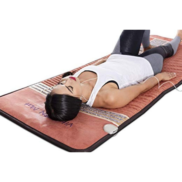 "Infrared Heating Mat - 74"" x 28"" / 185 cm x 70 cm (Firm) - PEMF Therapy Device - Natural Amethyst, Obsidian & Tourmaline Heating Mat - FDA Reg Mfgr"