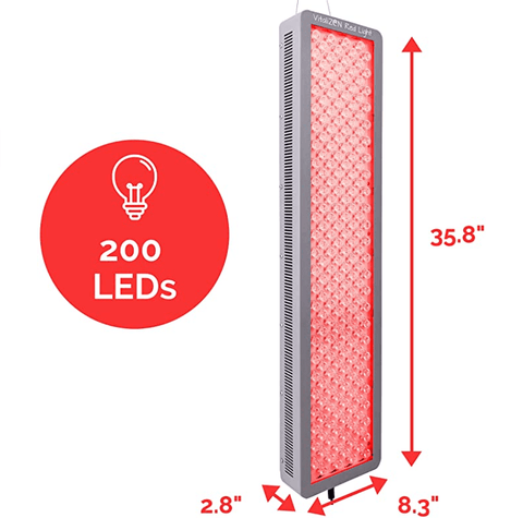 Image of 1000 Watt 660nm Deep Red & 850nm Near-Infrared Red LED Light Therapy, 200 LEDs, Low EMF, High Power, Anti-Aging, Pain Relief, Energy and Performance