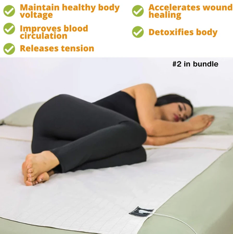 Immune Defense Bundle (Immune Support Supplement, Acupressure Mat, Laptop Harness, Grounding Sheets, Mindfulness Meditation Video)