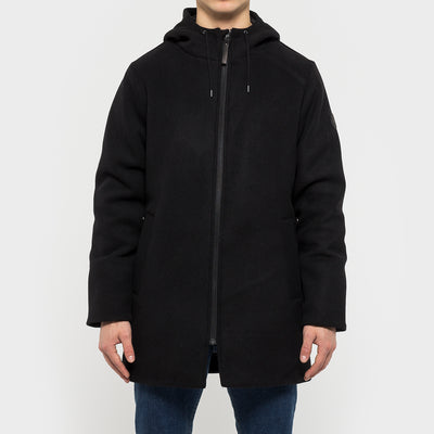 7594 RVLT WOOL PARKA BLACK