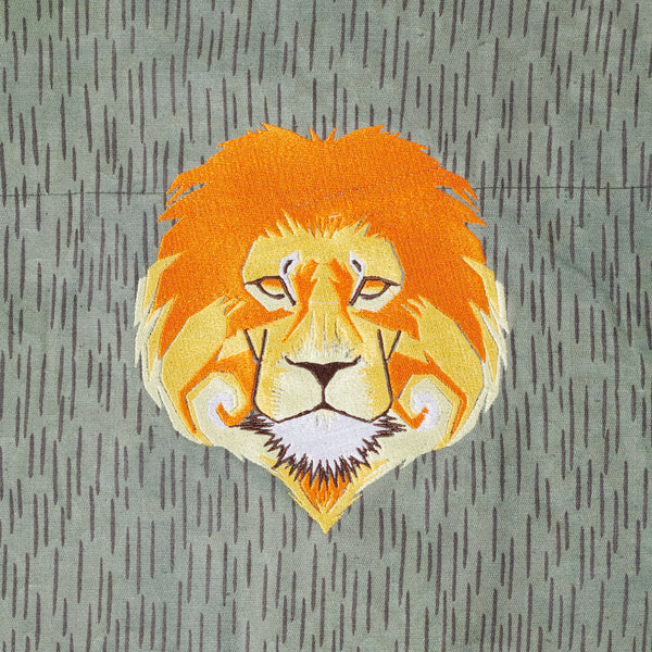 Lion Embroidered Canvas Jacket (S/M)