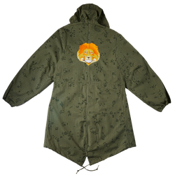 Lion Embroidered Parka Jacket (S/M)