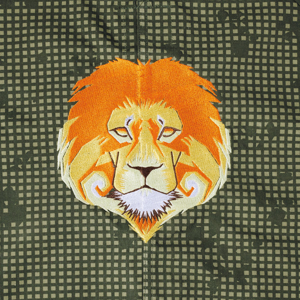 Lion Embroidered Parka Jacket (XS)