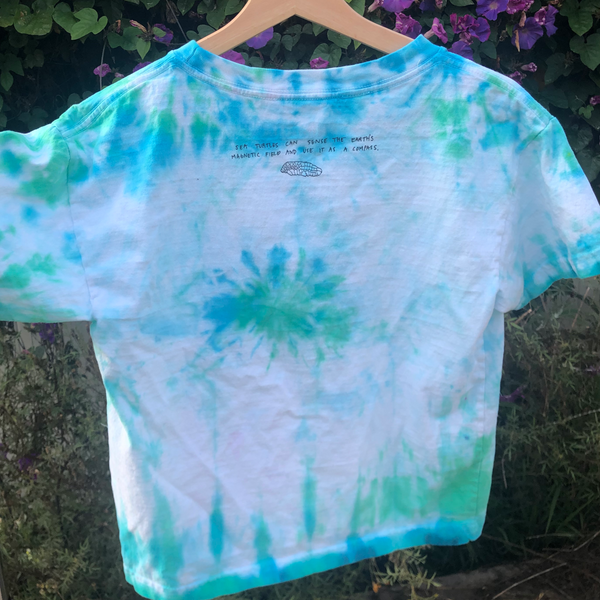 Sea Turtle Tie-Dyed Tee (M Boxy)