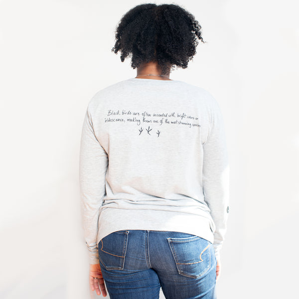 BlackAFinStem x Animalia Blackbird Long Sleeve Tee
