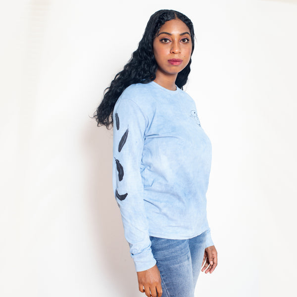 BlackAFinStem x Animalia Blackbird Indigo Dyed Long Sleeve Tee