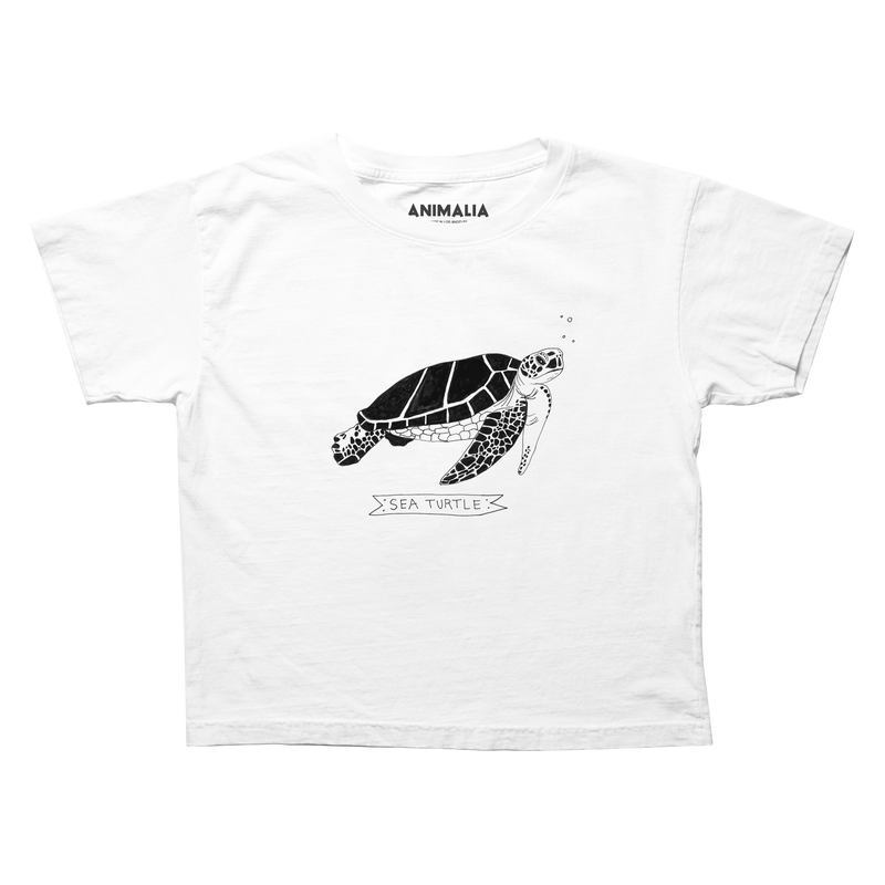 Sea Turtle Boxy Cropped Tee