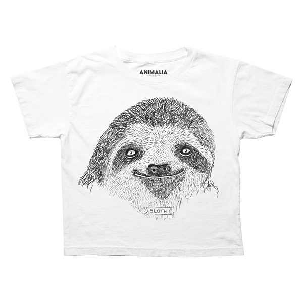 Brother Nature x Animalia Boxy Cropped Sloth Tee
