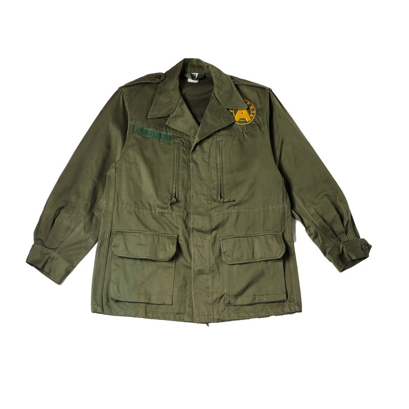Lion Embroidered Canvas Jacket (XS)