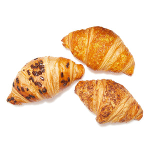 Mix bake off mini gevulde croissants (praliné, amandel, abrikoos)