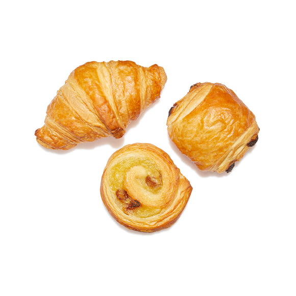 Mix bake off mini viennoiserie boter (mini croissant, rozijnensuisse, chocoladebroodje)