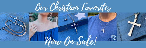 Christian cross jewelry faith based blessed gifts Inspirational devotional Blessed Be Boutique