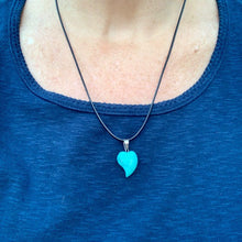 Load image into Gallery viewer, Stone Heart Necklaces